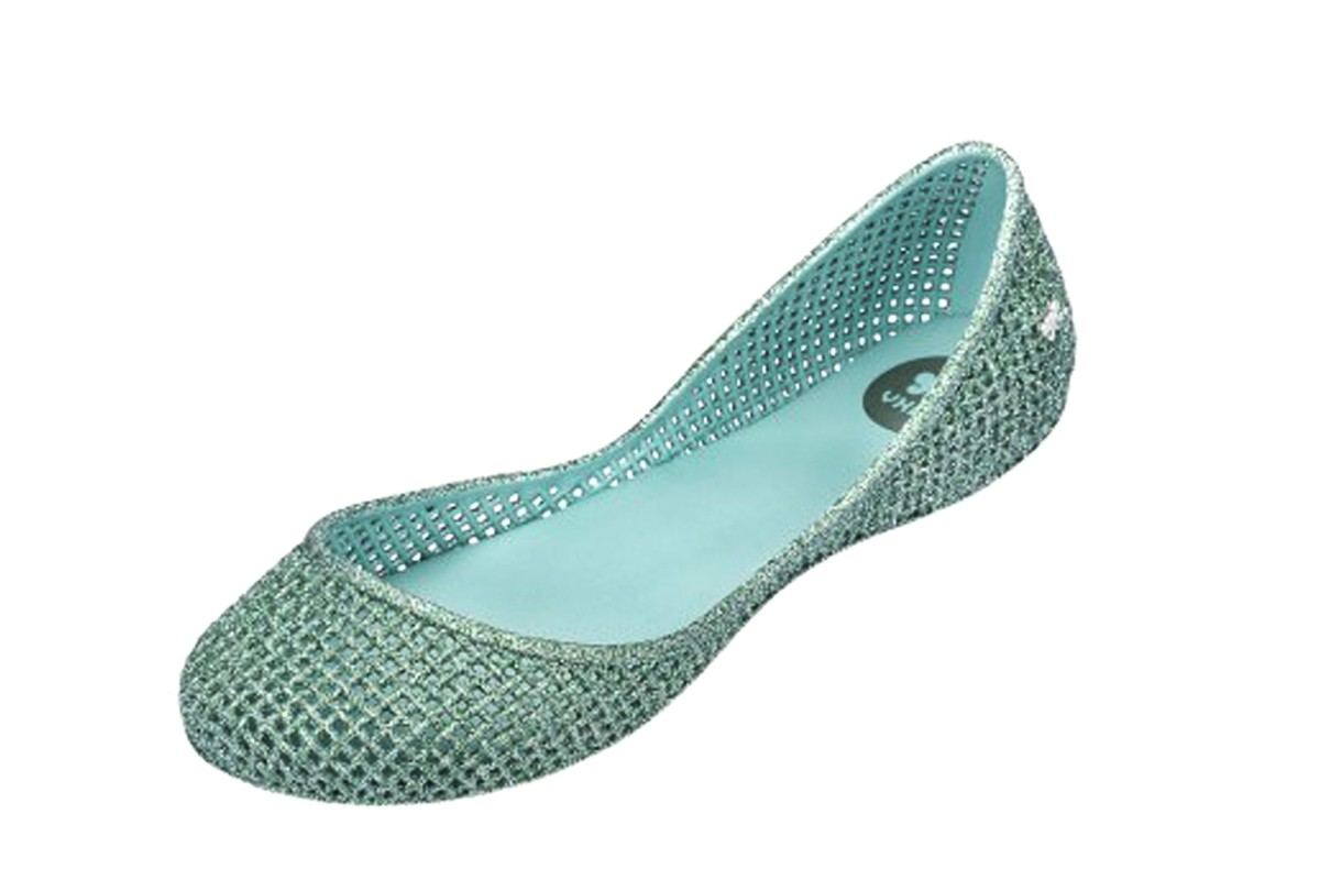 Zaxy Amora Glitter Mint Green Flat Ballet Shoes