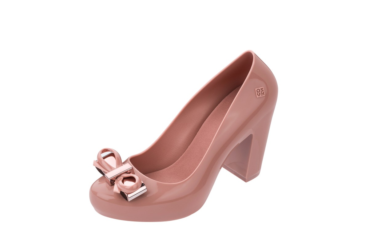 Zaxy Fever Dressy High Heel Blush Pink Court Shoes