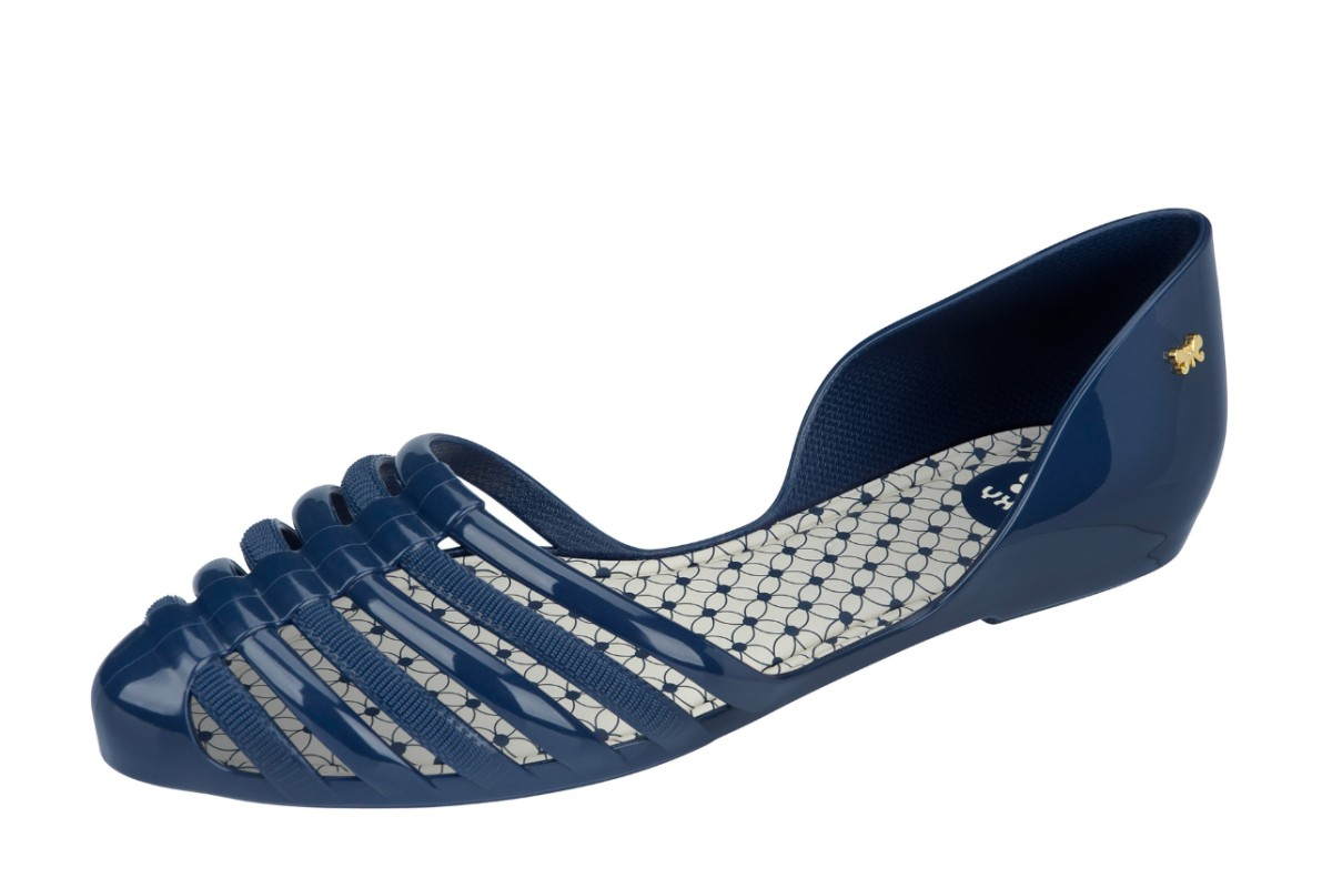 Zaxy Hype Navy Women's Flat Ballet Shoes