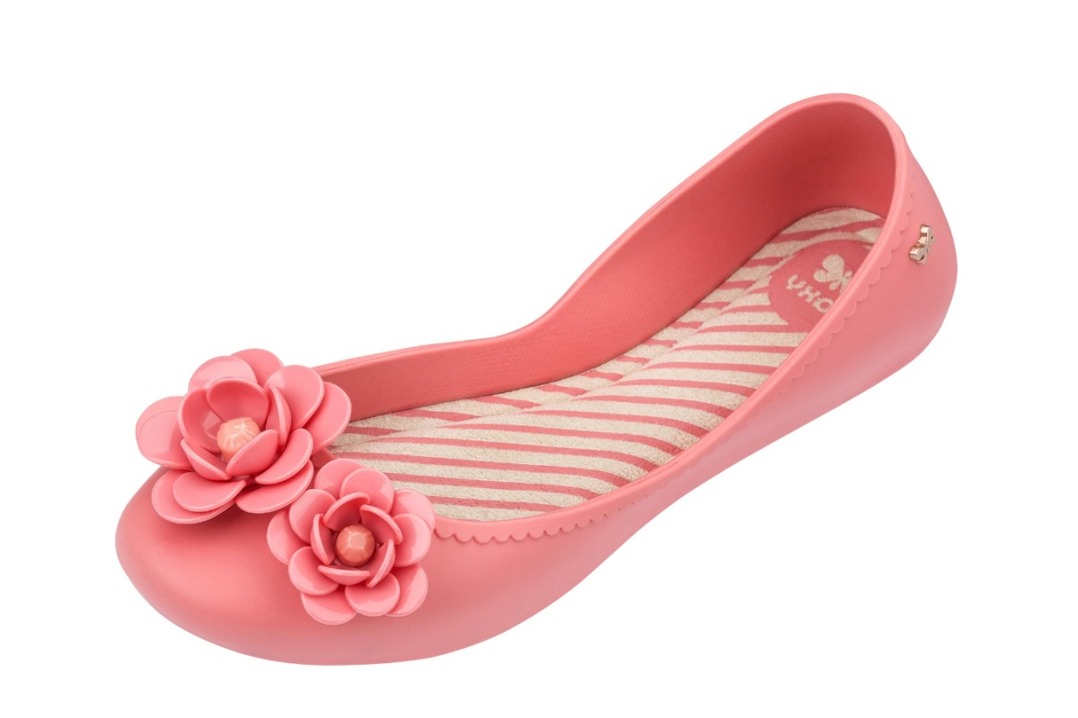 Zaxy Start Blossom Pink Flower Flat Ballet Shoes