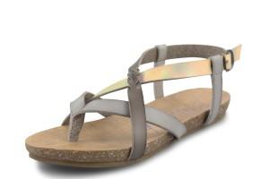 20e47c2214697 Blowfish Glamm Russet Tan Ankle Strap Studded T Bar Flat Sandals · £39.99