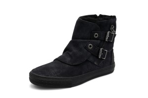 fd6c381e5aa58 £59.99 £24.99 · Blowfish Koto SHR Black Highlife Faux Leather Flat Water  Resistant Ankle Boots