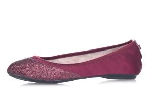 0967309a3976 £40.99 £28.99 · Butterfly Twists Ashley Merlot Burgundy Glitter Memory Foam  Flat Ballet Shoes