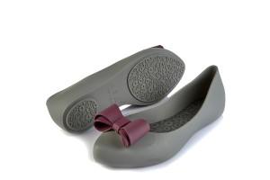 e5ee7debbe2 £29.99 · Coloko Calathea Grey Purple Bow Flat Ballet Shoes