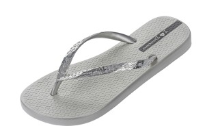 42c5b8d98 Ipanema Vibe Sandal 21 Silver Matt Grey Flat Slip On Sandals - KissShoe