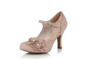 451afb44 Ruby Shoo Amy Cream Gold Polka Dot High Heel Court Shoes · £59.99 £49.99