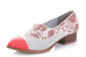d1aeae6a45f ... Lace Up Oxford Brogue Shoes · £54.99 £44.99 · Ruby Shoo Brooke Coral  Grey Floral Low Heel ...