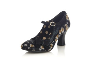 568a79b96a3 Ruby Shoo Astrid Green Tweed Floral Velvet High Heel Bow Shoes · £53.99  £39.99