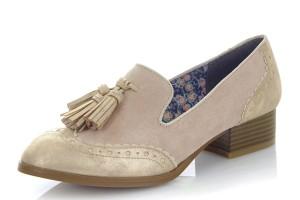 5b25bed0f2d Ruby Shoo Brooke Sand Beige Floral Low Heel Slip On Shoes · £49.99 £34.99