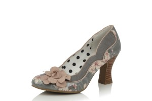 05a6f545 Ruby Shoo Willow Aqua Turquoise White Floral Lace Up High Heel Shoes ·  £59.99