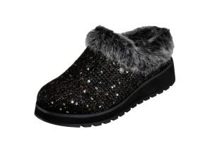 aab53292ef90 Skechers Bobs Keepsakes Ice Angel Chocolate Brown Mule Slippers ...