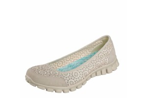 714c2a52 Skechers EZ Flex 3.0 Majesty Natural Beige Floral Memory Foam Flat Ballet  Shoes · £52.99 £24.99