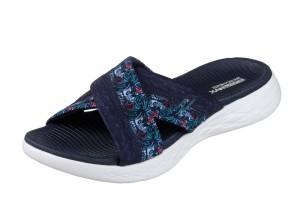 a9d21ea6e64f Mustang 3133-701 Blue Denim Cross Strap Flat Slide Sandals - KissShoe