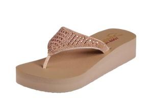 4239fe684d39 £32.99 · Skechers Vinyasa Tiger Squad Rose Gold Diamante Platform Wedge  Sandals · £39.99 £29.99 · Mustang 3133-701 Blue Denim Cross Strap Flat  Slide Sandals