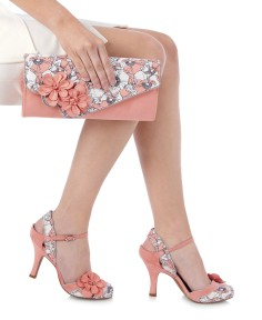Ruby Shoo Heidi Peach Shoes and Rio Bag